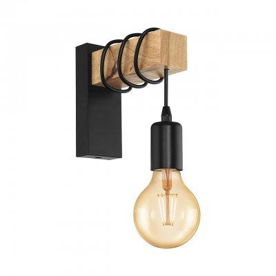 Купить Настенный светильник бра Eglo 32917 TOWNSHEND, Австрия, металл. дерево
