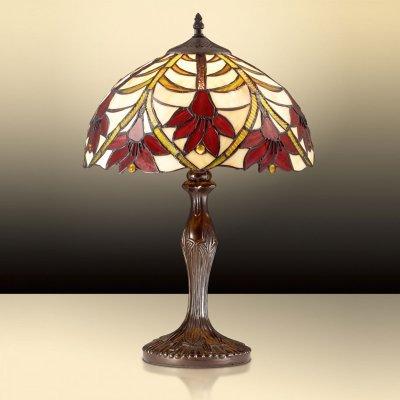 Светильник настольный Odeon light 2640/1TТиффани<br>Настольная лампа – это не просто источник дополнительного освещения, но и оригинальный элемент декора. Его можно установить в спальне, гостиной, кабинете и других комнатах. Интернет-магазин «Светодом» предлагает настольные лампы разных стилей по доступным ценам. Благодаря большому ассортименту Вы обязательно найдете в нашем каталоге именно ту модель, которую искали.   Настольная лампа Odeon light 2640/1T  – прекрасный вариант для завершения интерьера. Ее можно включить одновременно с люстрой для более яркого освещения или без нее для создания уютной атмосферы, настраивающей на отдых.   Купить настольную лампу Odeon light 2640/1T  Вы можете с помощью виртуальной «Корзины» или по контактным номерам, указанным на сайте.<br><br>S освещ. до, м2: 4<br>Тип цоколя: E27<br>Количество ламп: 1<br>MAX мощность ламп, Вт: 60<br>Диаметр, мм мм: 310<br>Высота, мм: 490<br>Оттенок (цвет): гибискус<br>Цвет арматуры: коричневый