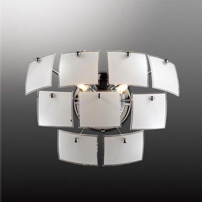 Светильник Odeon light 2655/2WХай-тек<br>Обратите своё внимание на настенное бра Odeon light 2655/2W, представленное в современном стиле хай-тек: практичном и ультрамодном. Итальянское изделие символизирует стильный минимализм и максимальное сияние. Пора исключить вычурность, бесцеремонность, нагромождение и габаритность! Стильная форма настенного бра Odeon light 2655/2W создана из нескольких белоснежных квадратов, не перекрывающих свет. Два источника насыщенного сияния обогатят необходимыми лучами любую интерьерную зону. Все детали светильника созданы из современных материалов по новейшим технологиям. Стильный дизайн, простая геометрия и выверенный минимализм делают настенное бра Odeon light 2655/2W универсальным для каждого интерьера.<br><br>S освещ. до, м2: 6<br>Тип цоколя: G9<br>Количество ламп: 2<br>Ширина, мм: 310<br>MAX мощность ламп, Вт: 40<br>Высота, мм: 220<br>Оттенок (цвет): белый<br>Цвет арматуры: серебристый