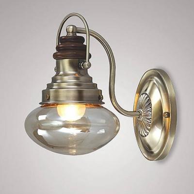 Евросвет 266/1Лофт<br><br><br>Тип лампы: Накаливания / энергосбережения / светодиодная<br>Тип цоколя: E27<br>Количество ламп: 1<br>Ширина, мм: 150<br>MAX мощность ламп, Вт: 60<br>Расстояние от стены, мм: 230<br>Высота, мм: 245<br>Цвет арматуры: бронзовый