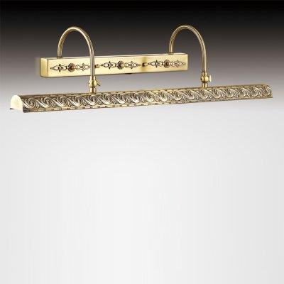 Светильник Odeon light 2667/4WДля картин/зеркал<br><br><br>S освещ. до, м2: 7<br>Тип цоколя: E14<br>Количество ламп: 4<br>MAX мощность ламп, Вт: 25<br>Длина, мм: 680<br>Высота, мм: 160<br>Цвет арматуры: бронзовый