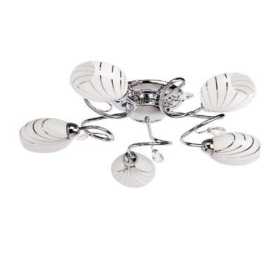 DeMarkt Фиеста 267014005 ЛстраПотолочные<br><br><br>S освещ. до, м2: 15<br>Тип лампы: Накаливани / нергосбережени / светодиодна<br>Тип цокол: E14<br>Количество ламп: 5<br>MAX мощность ламп, Вт: 60<br>Диаметр, мм мм: 650<br>Высота, мм: 130