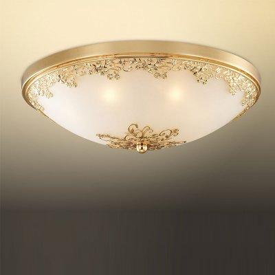 Светильник Odeon light 2676/7CКруглые<br>Универсальная конструкция настенно-потолочного светильника Odeon light 2676/7C является его отличительной особенностью по сравнению с другими осветительными приборами - благодаря ей он прекрасно смотрится и в качестве потолочной люстры и в качестве настенного бра. Элегантное и гармоничное сочетание круглой формы, золотого и белого оттенка с «растительным» рисунком на плафоне идеально подходит к интерьеру в стиле «классика» и «флористика». Семь ламп создают мягкое и приятное для зрения освещение на площади до 19 кв.м., поэтому наиболее функционально светильник будет выглядеть в качестве потолочного источника света. «Цельный» плафон без декоративных элементов легко очистить от загрязнений – достаточно протереть поверхность влажной салфеткой, поэтому его можно смело использовать даже на кухне.<br><br>S освещ. до, м2: 19<br>Тип цоколя: G9<br>Количество ламп: 7<br>MAX мощность ламп, Вт: 40<br>Диаметр, мм мм: 400<br>Высота, мм: 170<br>Оттенок (цвет): белый<br>Цвет арматуры: золотой