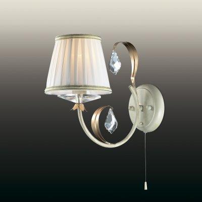 Настенный светильник odeon light 2682/1W DAGURAФлористика<br><br><br>S освещ. до, м2: 4<br>Тип лампы: накаливания / энергосбережения / LED-светодиодная<br>Тип цоколя: E14<br>Количество ламп: 1<br>Ширина, мм: 150<br>MAX мощность ламп, Вт: 60<br>Расстояние от стены, мм: 290<br>Высота, мм: 260<br>Цвет арматуры: бежевый с золотистой патиной