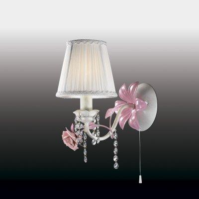 Настенный светильник odeon light 2685/1W PADMAФлористика<br><br><br>S освещ. до, м2: 4<br>Тип лампы: накаливания / энергосбережения / LED-светодиодная<br>Тип цоколя: E14<br>Количество ламп: 1<br>Ширина, мм: 140<br>MAX мощность ламп, Вт: 60<br>Расстояние от стены, мм: 230<br>Высота, мм: 330<br>Цвет арматуры: белый