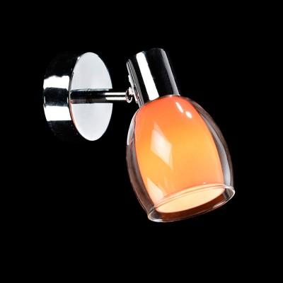 Светильник Евросвет 2688/1 хром/оранжевыйОдиночные<br>Светильники-споты – это оригинальные изделия с современным дизайном. Они позволяют не ограничивать свою фантазию при выборе освещения для интерьера. Такие модели обеспечивают достаточно качественный свет. Благодаря компактным размерам Вы можете использовать несколько спотов для одного помещения.  Интернет-магазин «Светодом» предлагает необычный светильник-спот Евросвет 2688/1 по привлекательной цене. Эта модель станет отличным дополнением к люстре, выполненной в том же стиле. Перед оформлением заказа изучите характеристики изделия.  Купить светильник-спот Евросвет 2688/1 в нашем онлайн-магазине Вы можете либо с помощью формы на сайте, либо по указанным выше телефонам. Обратите внимание, что у нас склады не только в Москве и Екатеринбурге, но и других городах России.<br><br>S освещ. до, м2: 4<br>Тип лампы: накал-я - энергосбер-я<br>Тип цоколя: E14<br>Количество ламп: 1<br>Ширина, мм: 90<br>MAX мощность ламп, Вт: 60<br>Расстояние от стены, мм: 130<br>Высота, мм: 160<br>Цвет арматуры: серебристый