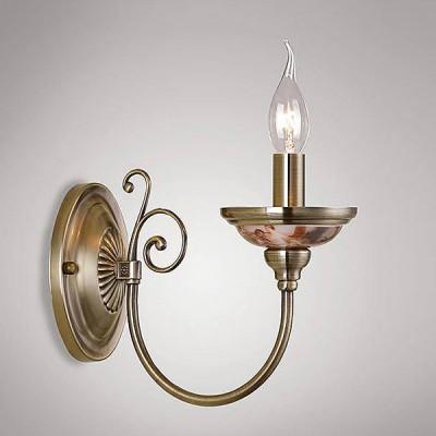 Евросвет 269/1Классические<br><br><br>Тип лампы: Накаливания / энергосбережения / светодиодная<br>Тип цоколя: E14<br>Количество ламп: 1<br>Ширина, мм: 110<br>MAX мощность ламп, Вт: 60<br>Расстояние от стены, мм: 205<br>Высота, мм: 255