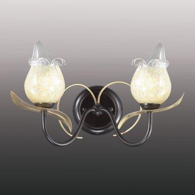 Настенный светильник odeon light 2691/2W ANABAФлористика<br><br><br>S освещ. до, м2: 8<br>Тип товара: Светильник настенный бра<br>Скидка, %: 41<br>Тип лампы: галогенная / LED-светодиодная<br>Тип цоколя: G9<br>Количество ламп: 2<br>Ширина, мм: 300<br>MAX мощность ламп, Вт: 60<br>Расстояние от стены, мм: 200<br>Высота, мм: 230<br>Цвет арматуры: черный