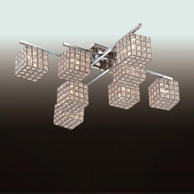 Люстра odeon light 2709/8C ULFAсовременные потолочные люстры модерн<br>Компания «Светодом» предлагает широкий ассортимент люстр от известных производителей. Представленные в нашем каталоге товары выполнены из современных материалов и обладают отличным качеством. Благодаря широкому ассортименту Вы сможете найти у нас люстру под любой интерьер. Мы предлагаем как классические варианты, так и современные модели, отличающиеся лаконичностью и простотой форм.  Стильная люстра Odeon light 2709/8C  станет украшением любого дома. Эта модель от известного производителя не оставит равнодушным ценителей красивых и оригинальных предметов интерьера. Люстра Odeon light 2709/8C  обеспечит равномерное распределение света по всей комнате. При выборе обратите внимание на характеристики, позволяющие приобрести наиболее подходящую модель. Купить понравившуюся люстру по доступной цене Вы можете в интернет-магазине «Светодом».<br><br>Установка на натяжной потолок: Ограничено<br>S освещ. до, м2: 21<br>Крепление: Планка<br>Тип лампы: галогенная / LED-светодиодная<br>Тип цоколя: G9<br>Цвет арматуры: серебристый<br>Количество ламп: 8<br>Ширина, мм: 600<br>Длина, мм: 600<br>Высота, мм: 175<br>MAX мощность ламп, Вт: 40
