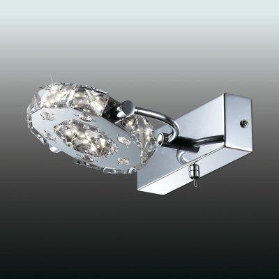 Настенный светильник odeon light 2710/6W MAIRIХрустальные<br><br><br>S освещ. до, м2: 0<br>Тип лампы: LED - светодиодная<br>Тип цоколя: LED<br>Цвет арматуры: серебристый<br>Ширина, мм: 180<br>Длина, мм: 230<br>Высота, мм: 100<br>MAX мощность ламп, Вт: 6
