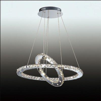 Люстра подвесная odeon light 2710/57L MAIRIПодвесные<br><br><br>Установка на натяжной потолок: Да<br>S освещ. до, м2: 5<br>Крепление: Планка<br>Тип товара: Люстра подвесная<br>Тип лампы: LED - светодиодная<br>Тип цоколя: LED<br>Количество ламп: 57 LED<br>Диаметр, мм мм: 680<br>Высота, мм: 1200<br>Цвет арматуры: серебристый