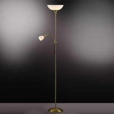 Торшер Odeon light 2712/1F Trend мат золотоСовременные<br>Торшер – это не просто функциональный предмет интерьера, позволяющий обеспечить дополнительное освещение, но и оригинальный декоративный элемент. Интернет-магазин «Светодом» предлагает стильные модели от известных производителей по доступным ценам. У нас Вы найдете и классические напольные светильники, и современные варианты.   Торшер 2712/F Odeon light сразу же привлекает внимание благодаря своему необычному дизайну. Модель выполнена из качественных материалов, что обеспечит ее надежную и долговечную работу. Такой напольный светильник можно использовать для интерьера не только гостиной, но и спальни или кабинета.   Купить торшер 2712/F Odeon light по выгодной стоимости Вы можете с помощью нашего сайта. У нас склады в Москве, Екатеринбурге, Санкт-Петербурге, Новосибирске и другим городам России.<br><br>S освещ. до, м2: 13<br>Тип лампы: накаливания / энергосбережения / LED-светодиодная<br>Тип цоколя: E27+E14<br>Количество ламп: 2<br>MAX мощность ламп, Вт: 100<br>Диаметр, мм мм: 230<br>Высота, мм: 1850<br>Цвет арматуры: золотой