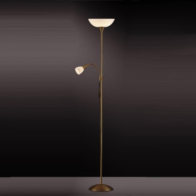 Торшер Odeon light 2713/1F Trend бронзаСовременные<br>Торшер – это не просто функциональный предмет интерьера, позволяющий обеспечить дополнительное освещение, но и оригинальный декоративный элемент. Интернет-магазин «Светодом» предлагает стильные модели от известных производителей по доступным ценам. У нас Вы найдете и классические напольные светильники, и современные варианты.   Торшер 2713/F Odeon light сразу же привлекает внимание благодаря своему необычному дизайну. Модель выполнена из качественных материалов, что обеспечит ее надежную и долговечную работу. Такой напольный светильник можно использовать для интерьера не только гостиной, но и спальни или кабинета.   Купить торшер 2713/F Odeon light по выгодной стоимости Вы можете с помощью нашего сайта. У нас склады в Москве, Екатеринбурге, Санкт-Петербурге, Новосибирске и другим городам России.<br><br>S освещ. до, м2: 13<br>Тип лампы: накаливания / энергосбережения / LED-светодиодная<br>Тип цоколя: E27+E14<br>Количество ламп: 2<br>MAX мощность ламп, Вт: 100<br>Диаметр, мм мм: 230<br>Высота, мм: 1850<br>Цвет арматуры: бронзовый