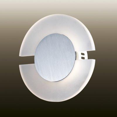Настенный светильник odeon light 2722/5WL AMAFOХай-тек<br><br><br>S освещ. до, м2: 0<br>Тип лампы: LED - светодиодная<br>Тип цоколя: LED<br>MAX мощность ламп, Вт: 5<br>Диаметр, мм мм: 200<br>Расстояние от стены, мм: 60<br>Цвет арматуры: серый