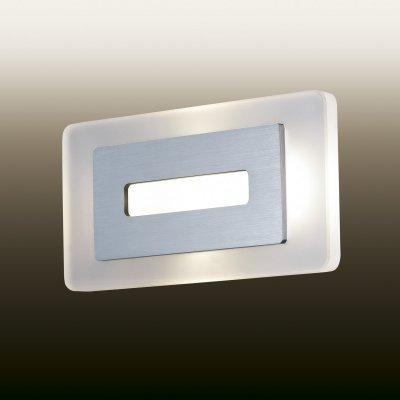 Настенный светильник odeon light 2725/4WL AMAFOПрямоугольные<br><br><br>S освещ. до, м2: 6<br>Цветовая t, К: 4000<br>Тип лампы: LED - светодиодная<br>Тип цоколя: LED<br>Ширина, мм: 240<br>MAX мощность ламп, Вт: 4<br>Расстояние от стены, мм: 58<br>Высота, мм: 120<br>Цвет арматуры: серый