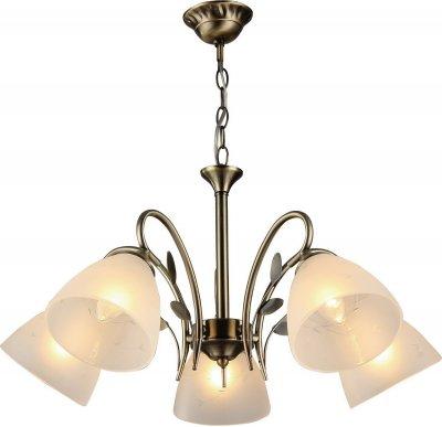 Люстра подвесная Milana 272/5-OldbronzeОжидается<br><br><br>Тип цоколя: E27<br>Цвет арматуры: Бронза антик<br>Количество ламп: 5<br>Диаметр, мм мм: 610<br>Высота, мм: 540<br>Оттенок (цвет): Белый<br>MAX мощность ламп, Вт: 60