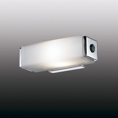 Настенный светильник odeon light 2731/1W KIMAМодерн<br><br><br>S освещ. до, м2: 2<br>Тип лампы: накаливания / энергосбережения / LED-светодиодная<br>Тип цоколя: E14<br>Количество ламп: 1<br>Ширина, мм: 180<br>MAX мощность ламп, Вт: 40<br>Расстояние от стены, мм: 85<br>Высота, мм: 60<br>Цвет арматуры: серебристый