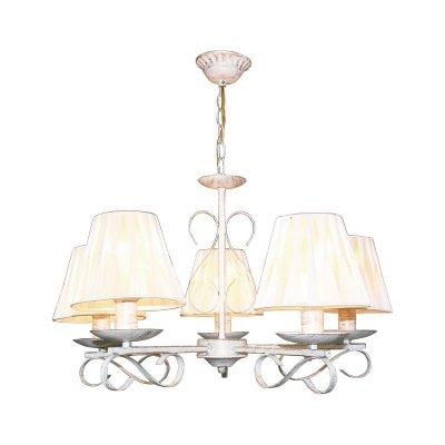 Люстра подвесная Milana 274/5-WhitepatinaОжидается<br><br><br>Тип цоколя: E27<br>Цвет арматуры: Белый патинированный<br>Количество ламп: 5<br>Диаметр, мм мм: 585<br>Высота, мм: 550<br>Оттенок (цвет): Белый<br>MAX мощность ламп, Вт: 60