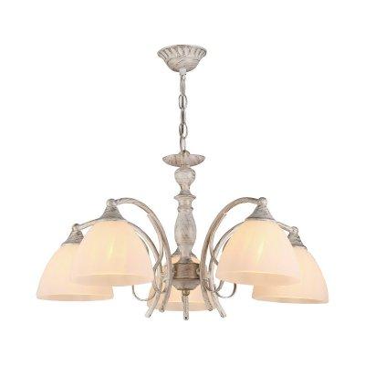 Люстра подвесная Milana 275/5-WhitepatinaОжидается<br><br><br>Тип цоколя: E27<br>Цвет арматуры: Белый патинированный<br>Количество ламп: 5<br>Диаметр, мм мм: 590<br>Высота, мм: 520<br>Оттенок (цвет): Белый<br>MAX мощность ламп, Вт: 60