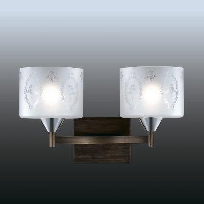 Настенный светильник odeon light 2759/2W RUNITAСовременные<br><br><br>S освещ. до, м2: 8<br>Тип лампы: накаливания / энергосбережения / LED-светодиодная<br>Тип цоколя: E27<br>Цвет арматуры: серебристый<br>Количество ламп: 2<br>Ширина, мм: 395<br>Расстояние от стены, мм: 250<br>Высота, мм: 245<br>MAX мощность ламп, Вт: 60