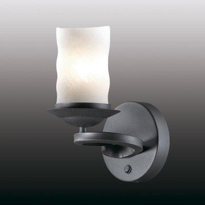 Настенный светильник odeon light 2766/1W BRINКованые<br><br><br>S освещ. до, м2: 4<br>Тип лампы: накаливания / энергосбережения / LED-светодиодная<br>Тип цоколя: E27<br>Количество ламп: 1<br>Ширина, мм: 150<br>MAX мощность ламп, Вт: 60<br>Расстояние от стены, мм: 200<br>Высота, мм: 270<br>Цвет арматуры: черный