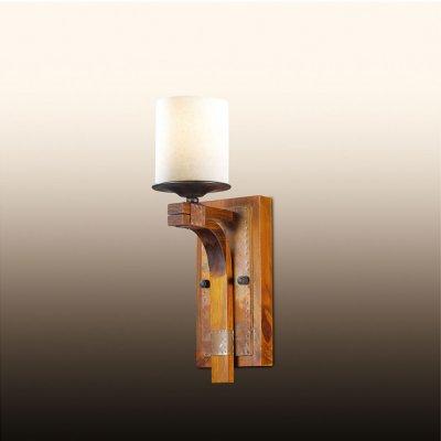 Настенный светильник odeon light 2767/1W FABOКованые<br><br><br>S освещ. до, м2: 4<br>Тип лампы: накаливания / энергосбережения / LED-светодиодная<br>Тип цоколя: E27<br>Количество ламп: 1<br>Ширина, мм: 120<br>MAX мощность ламп, Вт: 60<br>Расстояние от стены, мм: 160<br>Высота, мм: 390<br>Цвет арматуры: коричневый