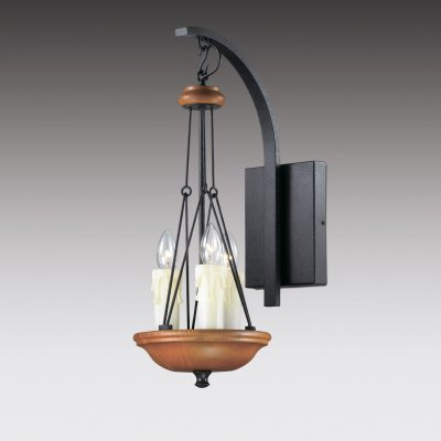 Настенный светильник odeon light 2768/3W EFAРустика<br><br><br>S освещ. до, м2: 8<br>Тип лампы: накаливания / энергосбережения / LED-светодиодная<br>Тип цоколя: E14<br>Количество ламп: 3<br>Ширина, мм: 220<br>MAX мощность ламп, Вт: 40<br>Расстояние от стены, мм: 320<br>Высота, мм: 560<br>Цвет арматуры: черный