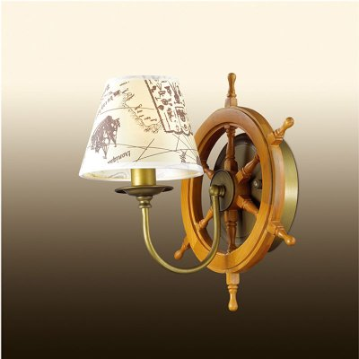 Настенный светильник odeon light 2769/1W ROTARМорской стиль<br><br><br>S освещ. до, м2: 2<br>Тип лампы: накаливания / энергосбережения / LED-светодиодная<br>Тип цоколя: E14<br>Количество ламп: 1<br>Ширина, мм: 300<br>MAX мощность ламп, Вт: 40<br>Расстояние от стены, мм: 250<br>Высота, мм: 300<br>Цвет арматуры: бронзовый