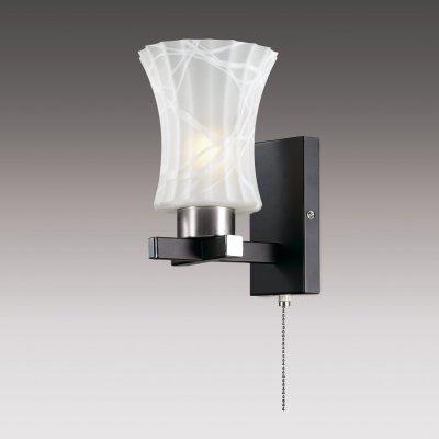 Настенный светильник odeon light 2772/1W LIBREМодерн<br><br><br>S освещ. до, м2: 4<br>Тип товара: Светильник настенный бра<br>Скидка, %: 34<br>Тип лампы: накаливания / энергосбережения / LED-светодиодная<br>Тип цоколя: E27<br>Количество ламп: 1<br>Ширина, мм: 140<br>MAX мощность ламп, Вт: 60<br>Расстояние от стены, мм: 175<br>Высота, мм: 185<br>Цвет арматуры: черный