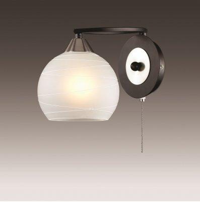 Настенный светильник odeon light 2773/1W BONARМодерн<br><br><br>S освещ. до, м2: 4<br>Тип лампы: накаливания / энергосбережения / LED-светодиодная<br>Тип цоколя: E27<br>Количество ламп: 1<br>Ширина, мм: 156<br>MAX мощность ламп, Вт: 60<br>Расстояние от стены, мм: 243<br>Высота, мм: 156<br>Цвет арматуры: черный