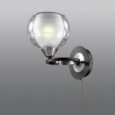 Настенный светильник odeon light 2774/1W VESONTOМодерн<br><br><br>S освещ. до, м2: 4<br>Тип товара: Светильник настенный бра<br>Тип лампы: накаливания / энергосбережения / LED-светодиодная<br>Тип цоколя: E27<br>Количество ламп: 1<br>Ширина, мм: 155<br>MAX мощность ламп, Вт: 60<br>Длина, мм: 220<br>Высота, мм: 150<br>Цвет арматуры: черный