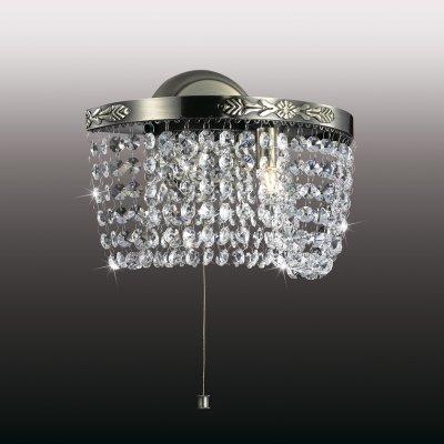 Настенный светильник odeon light 2778/1W TRENAХрустальные<br><br><br>S освещ. до, м2: 2<br>Тип товара: Светильник настенный бра<br>Тип лампы: галогенная / LED-светодиодная<br>Тип цоколя: G9<br>Количество ламп: 1<br>Ширина, мм: 260<br>MAX мощность ламп, Вт: 40<br>Высота, мм: 190<br>Цвет арматуры: бронзовый
