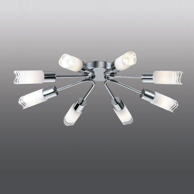 Люстра odeon light 2789/8C METIKOПотолочные<br>Компания «Светодом» предлагает широкий ассортимент люстр от известных производителей. Представленные в нашем каталоге товары выполнены из современных материалов и обладают отличным качеством. Благодаря широкому ассортименту Вы сможете найти у нас люстру под любой интерьер. Мы предлагаем как классические варианты, так и современные модели, отличающиеся лаконичностью и простотой форм.  Стильная люстра Odeon light 2789/8C  станет украшением любого дома. Эта модель от известного производителя не оставит равнодушным ценителей красивых и оригинальных предметов интерьера. Люстра Odeon light 2789/8C  обеспечит равномерное распределение света по всей комнате. При выборе обратите внимание на характеристики, позволяющие приобрести наиболее подходящую модель. Купить понравившуюся люстру по доступной цене Вы можете в интернет-магазине «Светодом».<br><br>Установка на натяжной потолок: Ограничено<br>S освещ. до, м2: 21<br>Крепление: Планка<br>Тип лампы: накаливания / энергосбережения / LED-светодиодная<br>Тип цоколя: E14<br>Количество ламп: 8<br>MAX мощность ламп, Вт: 40<br>Диаметр, мм мм: 600<br>Высота, мм: 120<br>Цвет арматуры: серебристый