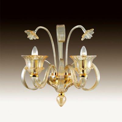 Настенный светильник odeon light 2794/2W ADIVAФлористика<br><br><br>S освещ. до, м2: 5<br>Тип лампы: накаливания / энергосбережения / LED-светодиодная<br>Тип цоколя: E14<br>Количество ламп: 2<br>Ширина, мм: 430<br>MAX мощность ламп, Вт: 40<br>Расстояние от стены, мм: 430<br>Высота, мм: 430<br>Цвет арматуры: золотой