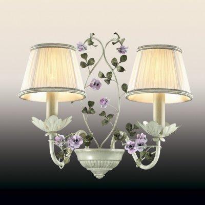 Настенный светильник odeon light 2796/2W TENDERФлористика<br><br><br>S освещ. до, м2: 8<br>Тип лампы: накаливания / энергосбережения / LED-светодиодная<br>Тип цоколя: E14<br>Цвет арматуры: бежевый<br>Количество ламп: 2<br>Ширина, мм: 380<br>Расстояние от стены, мм: 230<br>Высота, мм: 360<br>MAX мощность ламп, Вт: 60