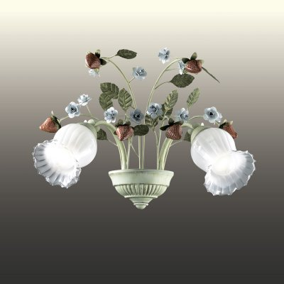 Настенный светильник odeon light 2800/2W FRAGOLAФлористика<br><br><br>S освещ. до, м2: 8<br>Тип лампы: накаливания / энергосбережения / LED-светодиодная<br>Тип цоколя: E14<br>Количество ламп: 2<br>Ширина, мм: 470<br>MAX мощность ламп, Вт: 60<br>Расстояние от стены, мм: 270<br>Высота, мм: 290<br>Цвет арматуры: бежевый
