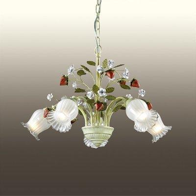 Люстра odeon light 2800/5 FRAGOLAПодвесные<br><br><br>Установка на натяжной потолок: Да<br>S освещ. до, м2: 20<br>Крепление: Крюк<br>Тип товара: Люстра подвесная<br>Скидка, %: 41<br>Тип лампы: накаливания / энергосбережения / LED-светодиодная<br>Тип цоколя: E14<br>Количество ламп: 5<br>MAX мощность ламп, Вт: 60<br>Диаметр, мм мм: 560<br>Высота, мм: 380