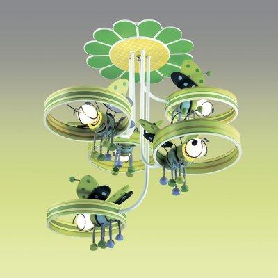 Люстра odeon light 2805/5C ARLIПотолочные<br><br><br>Установка на натяжной потолок: Да<br>S освещ. до, м2: 13<br>Крепление: Планка<br>Тип товара: Люстра<br>Тип лампы: накаливания / энергосбережения / LED-светодиодная<br>Тип цоколя: E14<br>Количество ламп: 5<br>MAX мощность ламп, Вт: 40<br>Диаметр, мм мм: 580<br>Высота, мм: 600<br>Цвет арматуры: зеленый