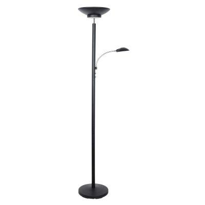 Торшер Moderna 282/2P-LEDBlacksandОжидается<br><br><br>Тип цоколя: LED<br>Цвет арматуры: Черный<br>Количество ламп: 2<br>Ширина, мм: 280<br>Длина, мм: 400<br>Высота, мм: 1800<br>Оттенок (цвет): Белый<br>MAX мощность ламп, Вт: 3+16