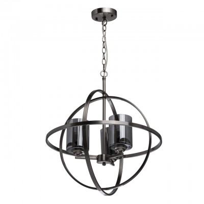 285010503 Mw light СветильникПодвесные<br><br><br>Установка на натяжной потолок: Да<br>S освещ. до, м2: 6<br>Тип лампы: Накаливания / энергосбережения / светодиодная<br>Тип цоколя: E14<br>Количество ламп: 3<br>Диаметр, мм мм: 500<br>Высота, мм: 600 - 850<br>MAX мощность ламп, Вт: 40