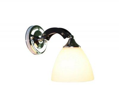 Бра Fayora 287/1A-BlackchromeОжидается<br><br><br>Крепление: Крепежная планка<br>Тип цоколя: E27<br>Цвет арматуры: Черный + хром<br>Количество ламп: 1<br>Ширина, мм: 135<br>Длина, мм: 210<br>Высота, мм: 190<br>Оттенок (цвет): Белый<br>MAX мощность ламп, Вт: 60