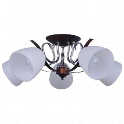 Потолочный светильник Escada 288/5PL E27*60W Chrome/BrownПод заказ<br>