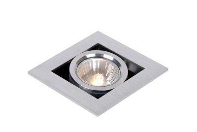Lucide 28900/01/12 CHIMNEYКарданные<br><br><br>Тип лампы: галогенная<br>Тип цоколя: GU10<br>Цвет арматуры: серебристый<br>Количество ламп: 1<br>Ширина, мм: 90<br>Длина, мм: 90<br>Высота, мм: 92<br>MAX мощность ламп, Вт: 50