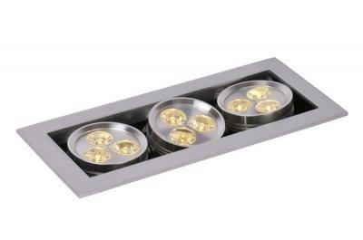 Lucide 28904/29/12 LED HOMEКарданные светильники<br><br><br>Тип лампы: LED - светодиодная<br>Тип цоколя: LED<br>Цвет арматуры: матовый хром<br>Количество ламп: 9<br>Ширина, мм: 90<br>Длина, мм: 210<br>Высота, мм: 75<br>MAX мощность ламп, Вт: 1