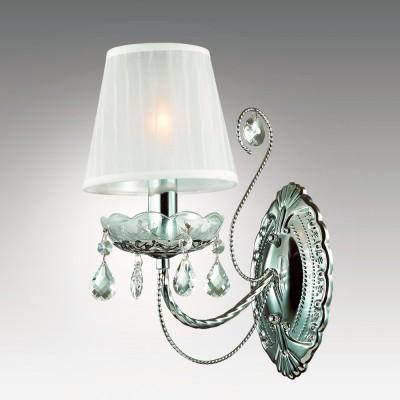 Светильник настенный бра Odeon light 2927/1W OFENAКлассические<br><br><br>Тип лампы: Накаливания / энергосбережения / светодиодная<br>Тип цоколя: E14<br>Количество ламп: 1<br>Ширина, мм: 150<br>MAX мощность ламп, Вт: 40<br>Расстояние от стены, мм: 250<br>Высота, мм: 310<br>Оттенок (цвет): хром<br>Цвет арматуры: серебристый