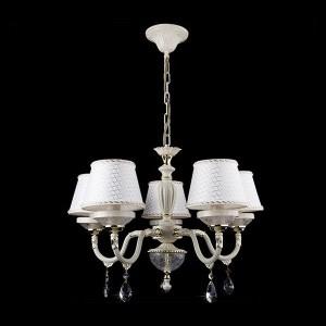 Люстра Евросвет 29658/5 белыйПодвесные<br><br><br>Установка на натяжной потолок: Да<br>S освещ. до, м2: 20<br>Крепление: Крюк<br>Тип товара: Люстра подвесная<br>Тип лампы: накаливания / энергосбережения / LED-светодиодная<br>Тип цоколя: E14<br>Количество ламп: 5<br>MAX мощность ламп, Вт: 60<br>Диаметр, мм мм: 600<br>Высота, мм: 800<br>Цвет арматуры: белый