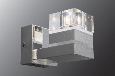 Бра Геометрия 3-2809-1-CR-LED G4 МаксисветОжидается<br><br><br>S освещ. до, м2: 1<br>Тип цоколя: G4<br>Цвет арматуры: Хром<br>Количество ламп: 1<br>Ширина, мм: 100<br>Высота полная, мм: 115<br>Длина, мм: 160<br>Оттенок (цвет): Прозрачный