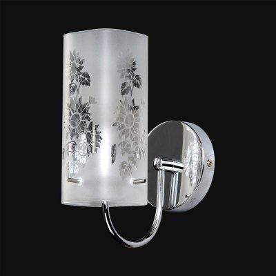 Бра Модерн 3-4880-1-CR E14 МаксисветОжидается<br>Стеклянный плафон декорирован цветочным рисунком, нанесенным пескоструйным способом.<br>Актуальный растительный декор.<br>Лаконичный дизайн и нейтральный цвет плафонов позволяет использовать светильники практически в любом помещении.<br><br>S освещ. до, м2: 3<br>Тип цоколя: E14<br>Цвет арматуры: Хром<br>Количество ламп: 1<br>Ширина, мм: 80<br>Высота полная, мм: 220<br>Длина, мм: 180<br>Оттенок (цвет): Белый