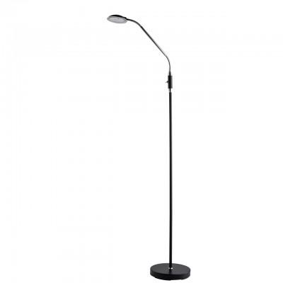 Светильник Mw-light 300043601Торшеры в стиле хай тек<br><br><br>Цветовая t, К: 3000<br>Тип лампы: LED<br>Цвет арматуры: черный/серебристый<br>Ширина, мм: 230<br>Длина, мм: 400<br>Высота, мм: 1650<br>MAX мощность ламп, Вт: 5