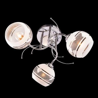 Светильник Евросвет 30008/3 хромПотолочные<br><br><br>Установка на натяжной потолок: Да<br>S освещ. до, м2: 9<br>Крепление: Планка<br>Тип лампы: Накаливания / энергосбережения / светодиодная<br>Тип цоколя: E27<br>Количество ламп: 3<br>MAX мощность ламп, Вт: 60<br>Диаметр, мм мм: 490<br>Высота, мм: 250<br>Цвет арматуры: серебристый